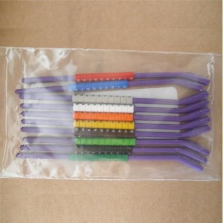 Tira 10 Anillas Abiertas Plastico 3mm