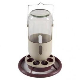 Bebedero Vidrio, 1000 ml.