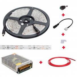 Kit Tiras Led Aviarios + Transformador + Conexiones 5 Metros